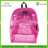 Custom Polyester Mesh Pack Net Fabric Daypack See-through Backpack                                                                         Quality Choice