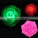 new type outdoor artificial plastic led flashing floating flowers with one CR2450 battery inside