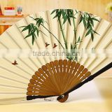 Cheap paper folding hand fan,custom one-side printed bamboo hand fan                                                                         Quality Choice