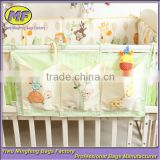 Custom 3 Pockets Non Woven Fabric Hanging Wall Storage Organizer for Baby Bedding Storage