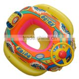 kids cartoon inflatable boat,inflatable float with steering wheel