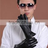 Winter Men's Genuine Leather Gloves Driving Sheepskin Mittens Thicken Warm Fashion Male Gloves