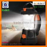 SORBO China Supplier Hand Crank Dynamo Radio Flashlight Potable Camping Light LED Emergency Light