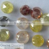 NATURAL LOOSE ROSE CUT ICY OPAQUE MIXED CLARITY LOOSE DIAMONDS