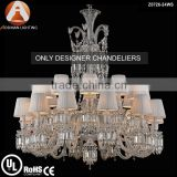 Baccarat Style 24 Light Crystal Chandelier of Designers' Choice for Interior Decoration