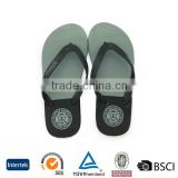 2016 latest design custom brand men light plain color pvc straps indoor slipper sandals