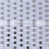 Wavy Basket Weave Shape Strip Glass Mosaic Tile Decorative Wall Tile Living Room Backsplash Tiles