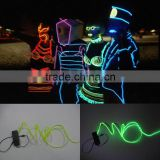 multi colors decorative promotional EL wire,el flashing wire,glow el wire 1.3mm, 2.3mm , 3.2mm , 5.0mm