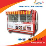 China designer top design customized snack sale food cart hot dog push cart ice cream carts