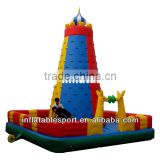 Kids rock inflatable climbing wall
