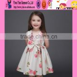 2016 Europe market baby dress up games flowers dress summer latest baby girls backless dress