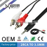 SIPU 3.5mm to 2Rca av cable best price audio video cable wholesale xx japan hd cable supplier
