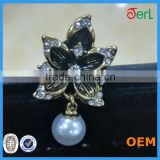 Beautiful button crystal button flower button with plastic pearl