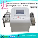 Factory price 40KHZ Ultrasonic Cavitation +non-surgical RF face body lift+Vacuum cavitation +electrotherapy slimming equipment