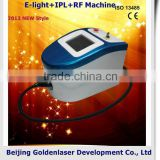2013 laser tattoo removal slimming machine cavitation E-light+IPL+RF machine underarm whitening