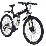 26'' Sportsman Folding Mountain Bike Bicycles 21 Speeds Disc Brake good looking