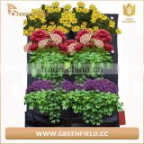 2017 Green Field Black Felt Vertical Planter Garden Living Wall Decor Flowers Grow Bag for Herbs Strawberries