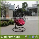KD outdoor furniture bamboo swing chair