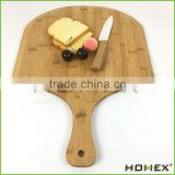 Organic Rectangle Pizza Board Bamboo Pizza Peel Homex BSCI/Factory