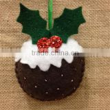 Hot sell Christmas Pudding Felt Decoration made in China