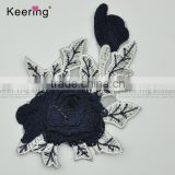 2017 new arrival beautiful design embroidery patch flower applique from keering WEF-764