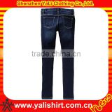 Custom popular dark blue close-fitting cotton/spandex newest kids designer all denim pants factory price