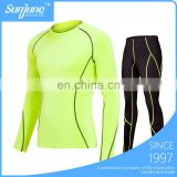 OEM man fitness running set Long-sleeved tights basketball training suit