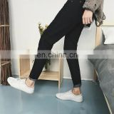 Peijiaxin Trousers Fashion Deisgn High Qualitly Black Ripped Jeans Men