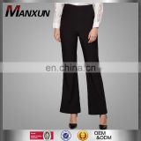 High quality elegant womens high waist boot cut pants