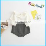 2017 Wholesale Hot Spring Fashion Baby Cotton Knit Wool Romper gray