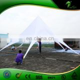 Custom White Luxury Bicycle Tent / Water-proof Party Star Tent , Luxury Canvas Tent with Logo for Sale
