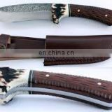 wholesale Damascus knifes -Custom Handmade Damascus Steel Karambit Knife, Horn Handle with Brass