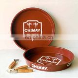 Customized round plastic serving tray
