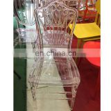 wholesales cheap clear acrylic princess banquet chair