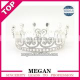 Fashion crystal rhinestone crown silver cake topper crown