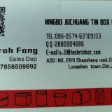 Ningbo Juchuang Tin Box Co., Ltd.