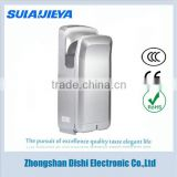new model high quality hotel stainless steel jet air hand dryer for bathroom