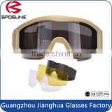 Latest design with 3 tactics lenses glasses good price TPU frame glasses nice bulletproof tactical goggles