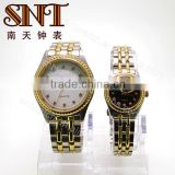 New Arrival quartz watches couple quartz watches with stone