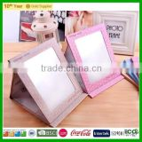 wholesale crafts gifts folding cosmetic mirror, standing makeup mirror for promotion