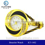 new products on china market beautiful crystal watch glass face bangle watches for girls bracelet watch