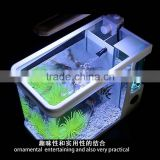 Newly design modern design fish tank/aquarium with LED fountain with CE