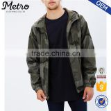 Custom Mens Hooded Lightweight Windbreaker Camo Jackets