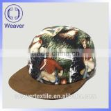 Fashion screen printting / sublimation floral 5 panel snapback cap                                                                         Quality Choice