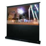 60''-100'' floor standing projector screens /Portable Pull-up Floor Stand Screen