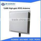 Long range passive rfid tag reader uhf epc gen2 / linear polarization 12dbi high gain rfid antenna