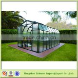Garden Green house/garden greenhouses Aluminum frame and plastic board Hot sell in German
