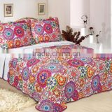 Wholesale quilts mircrofiber fabric pujiang factory printed quilts bedding sets quilts made in China