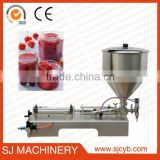 500-2800ml Semi-auto piston bottle ketchup filling machine