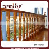 composite fence cheap wood balcony balustrade round wood handrail